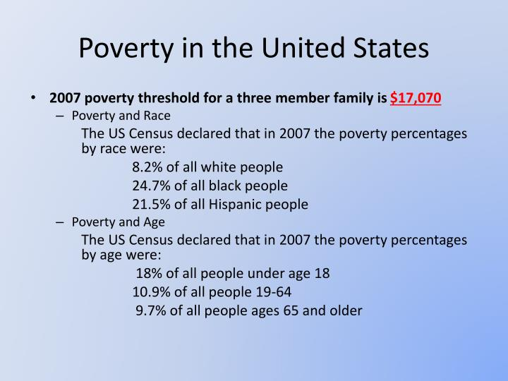 poverty and children in the united states 3 essay Final project analyze a social issue - poverty and children in the united states due 1 29 2012 nancy keta poor people did not create poverty, but they are.