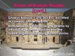 forms of roman theatre cont