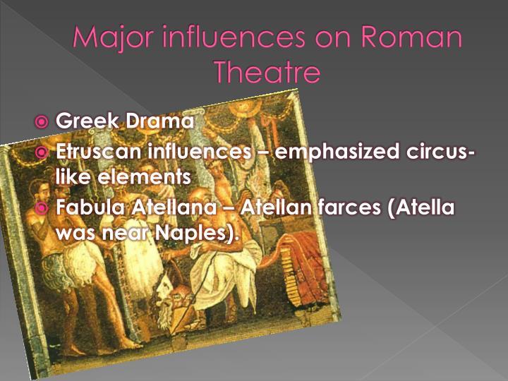 Major influences on Roman Theatre