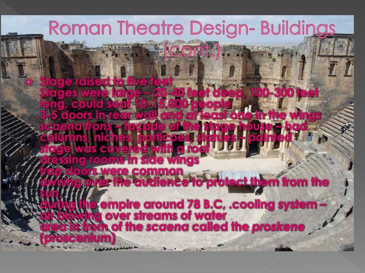 Roman Theatre Design-