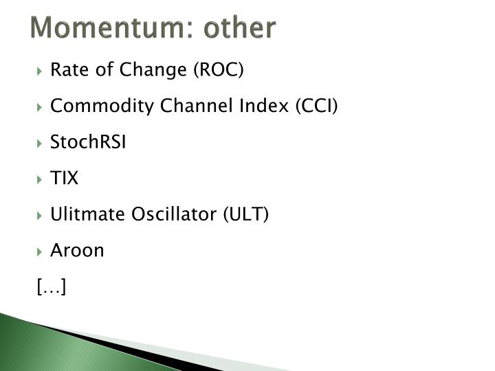 Momentum: other
