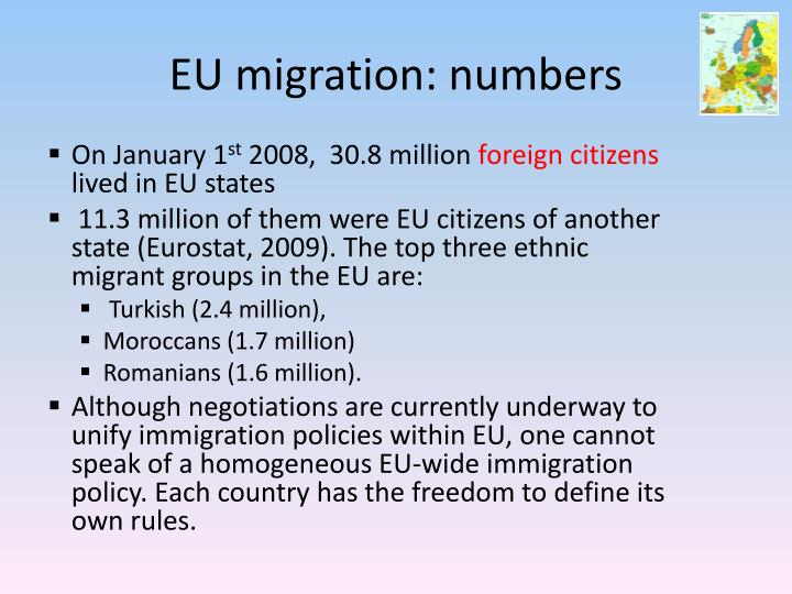 EU migration: numbers
