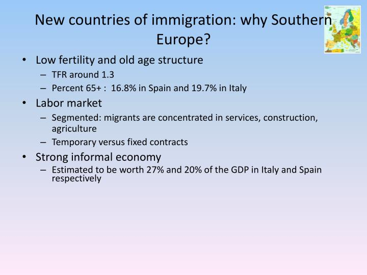 New countries of immigration: why
