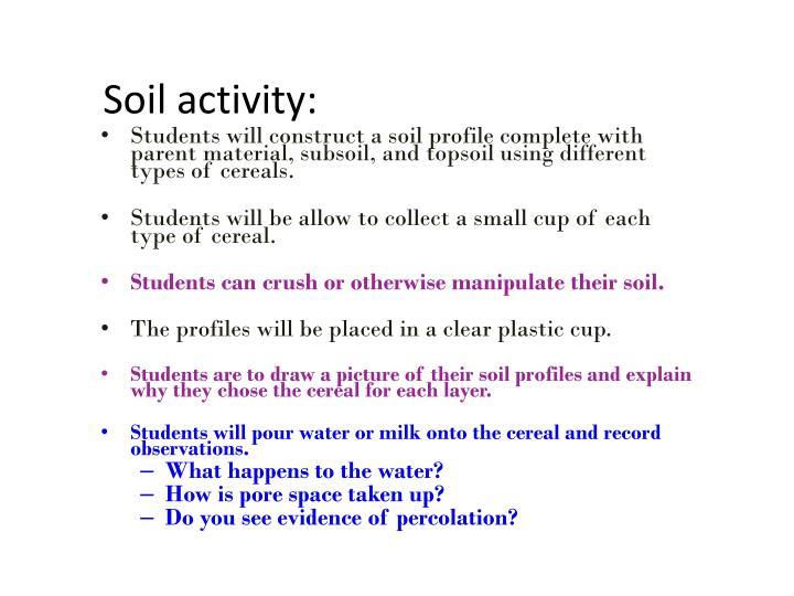 Soil activity: