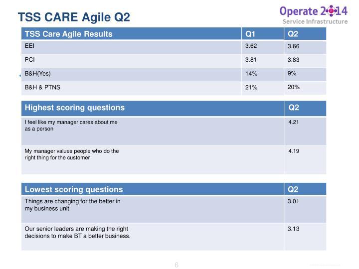 TSS CARE Agile Q2