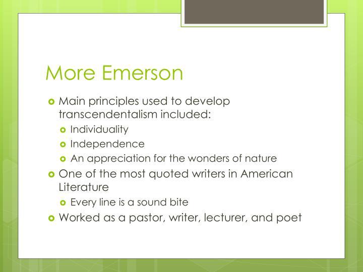 More Emerson