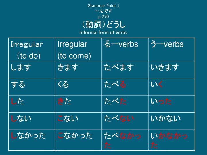 Grammar Point 1