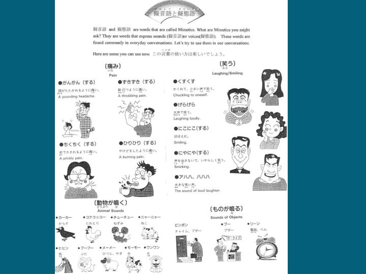 擬音語と擬態語