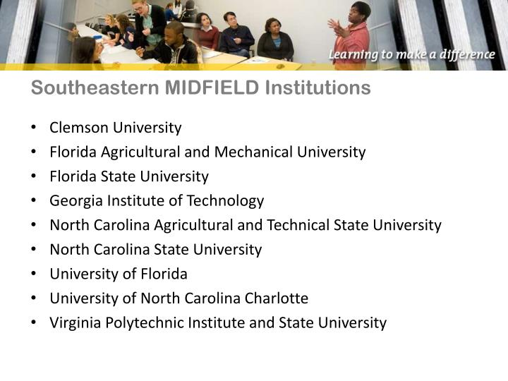 Southeastern MIDFIELD Institutions