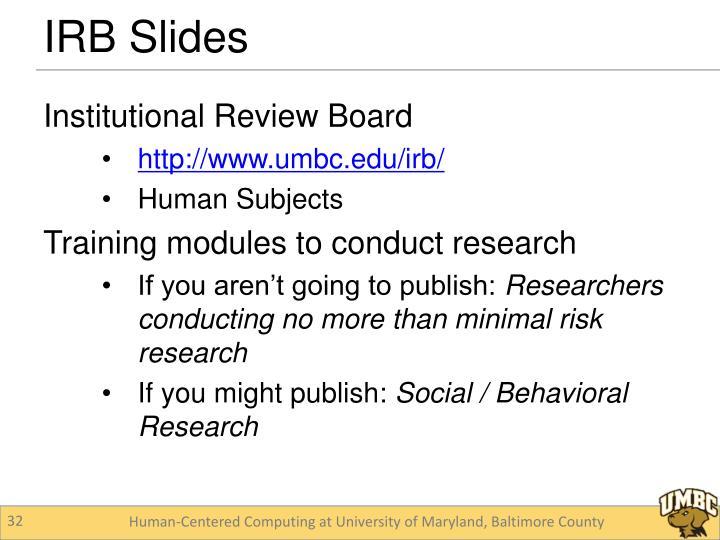 IRB Slides