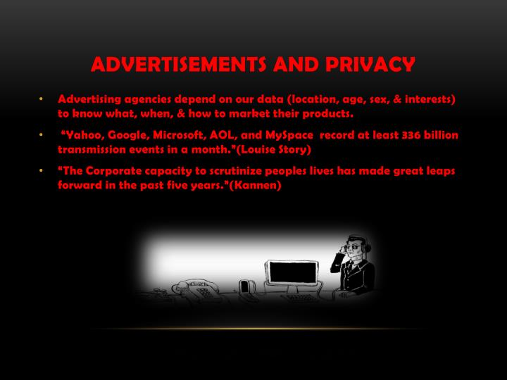 Advertisements and Privacy