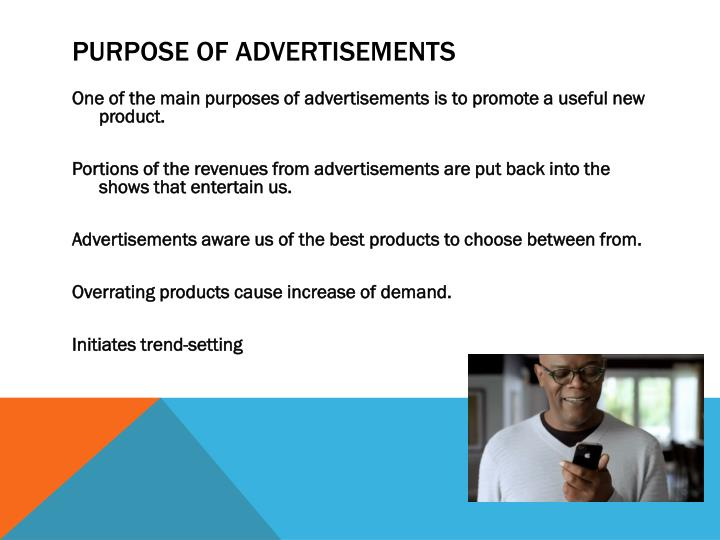 Purpose of advertisements