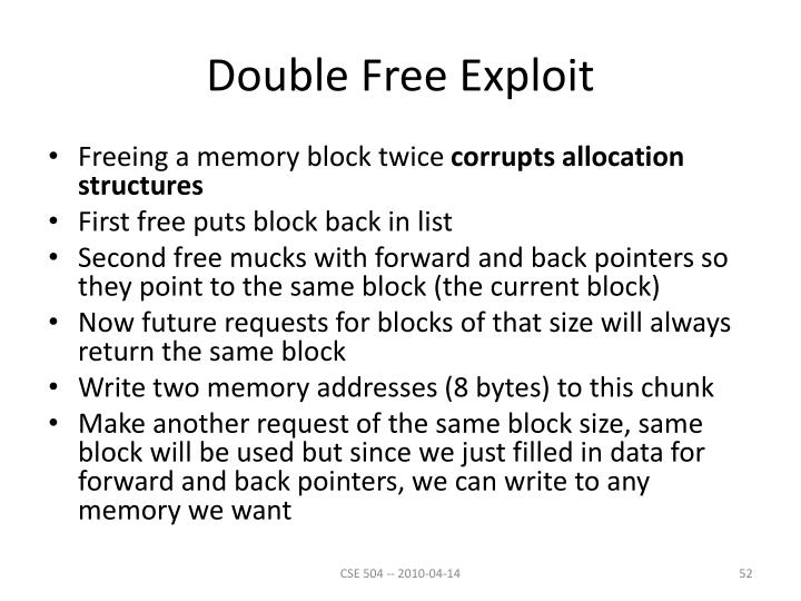 Double Free Exploit