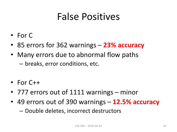 False Positives