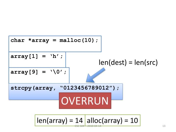 char *array = malloc(10);