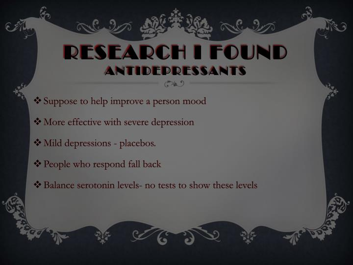 Research I found
