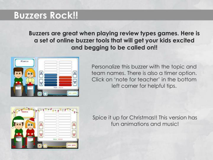 Buzzers Rock!!