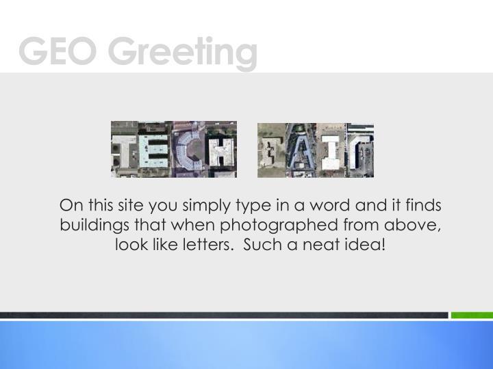 GEO Greeting
