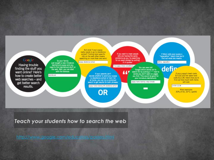 Teach your students how to search the web