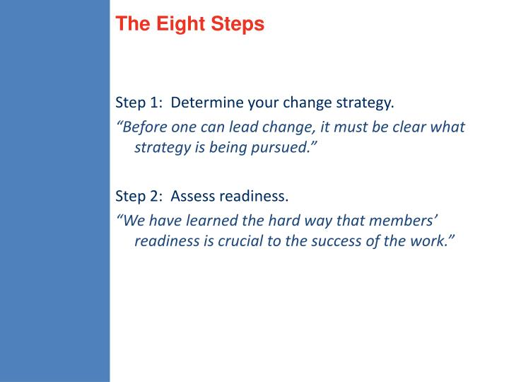 The Eight Steps