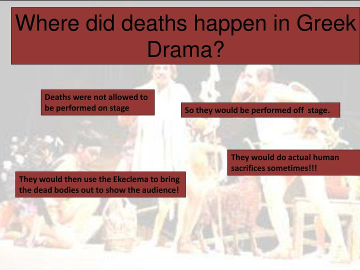 Where did deaths happen in Greek Drama?
