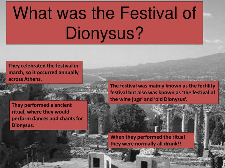 What was the Festival of Dionysus?