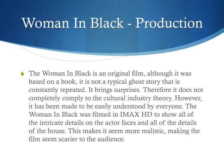 Woman In Black - Production