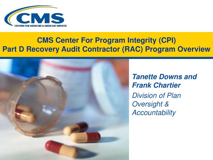 cms center for program integrity cpi part d recovery audit contractor rac program overview