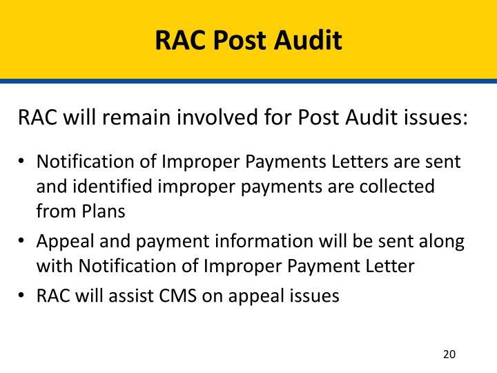 RAC Post Audit
