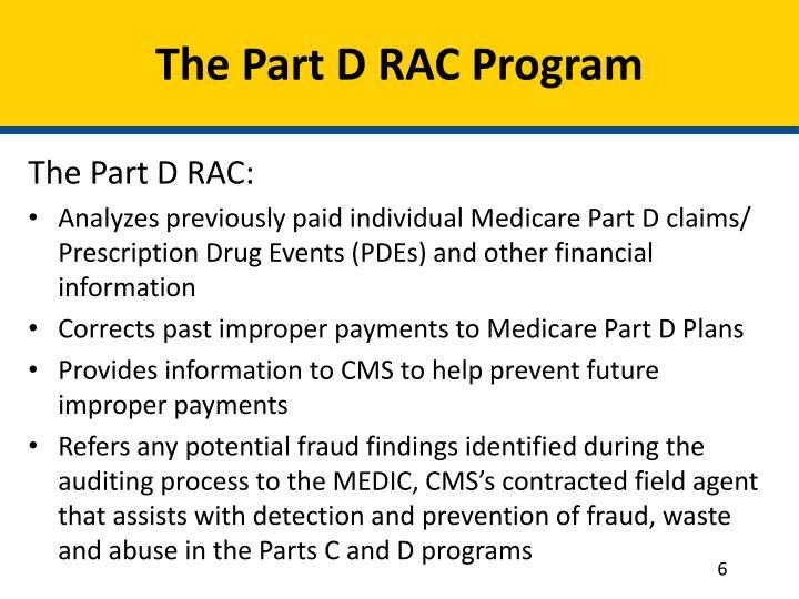 The Part D RAC Program