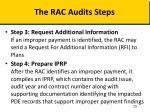 the rac audits steps1