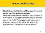 the rac audits steps4