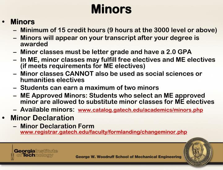 Minors