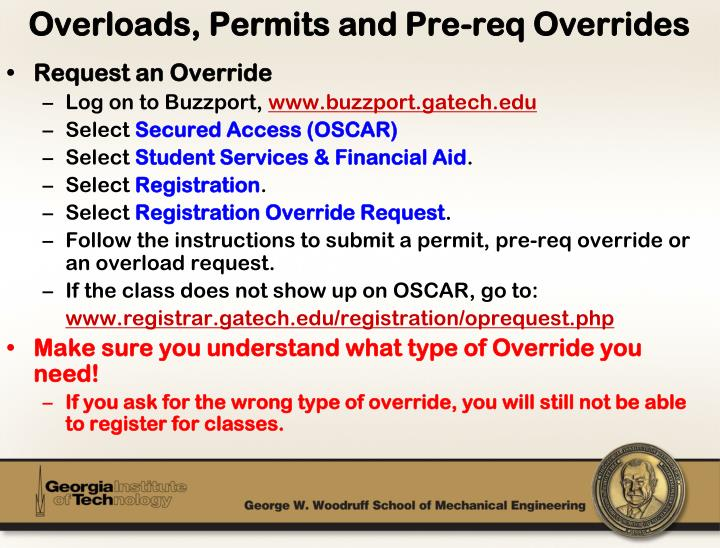 Request an Override
