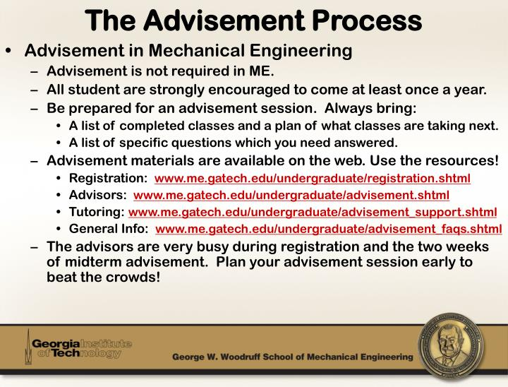 The Advisement Process