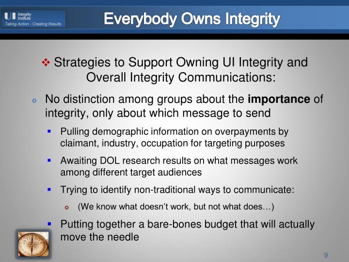 Everybody Owns Integrity