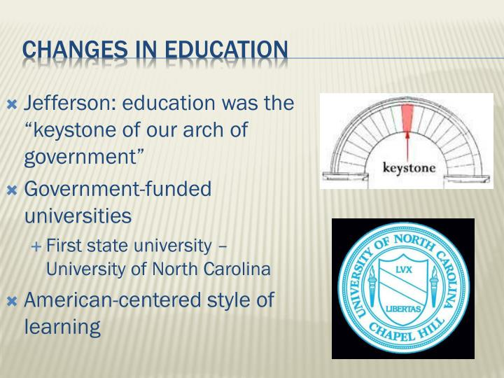 "Jefferson: education was the ""keystone of our arch of government"""