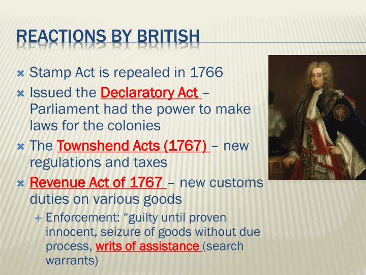 Stamp Act is repealed in 1766