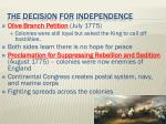 the decision for independence