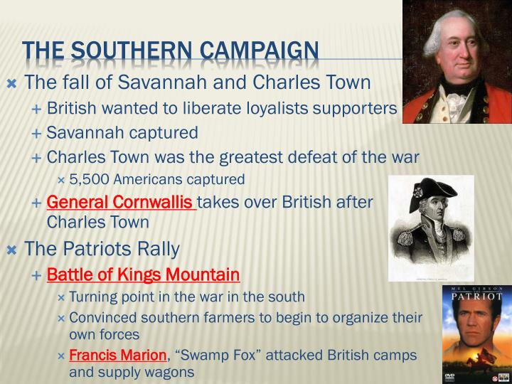 The fall of Savannah and Charles Town