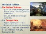 the war is won