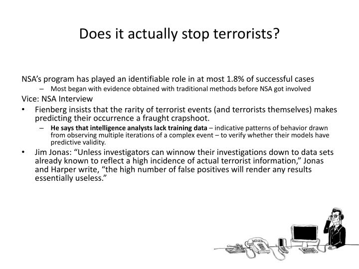 Does it actually stop terrorists?