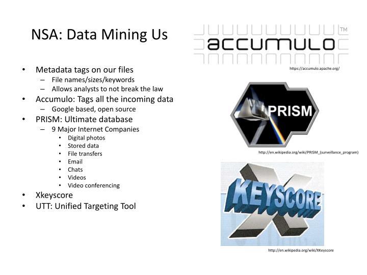 NSA: Data Mining Us