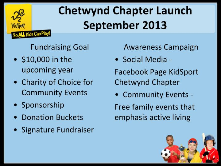 Chetwynd Chapter Launch September 2013