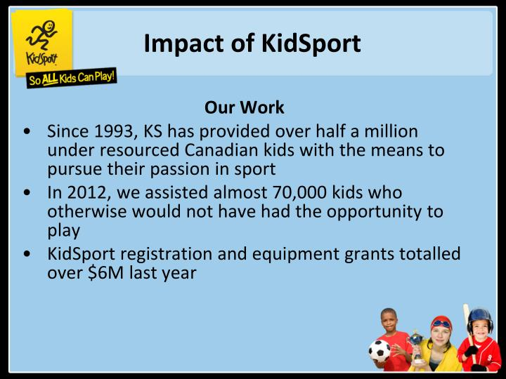 Impact of KidSport