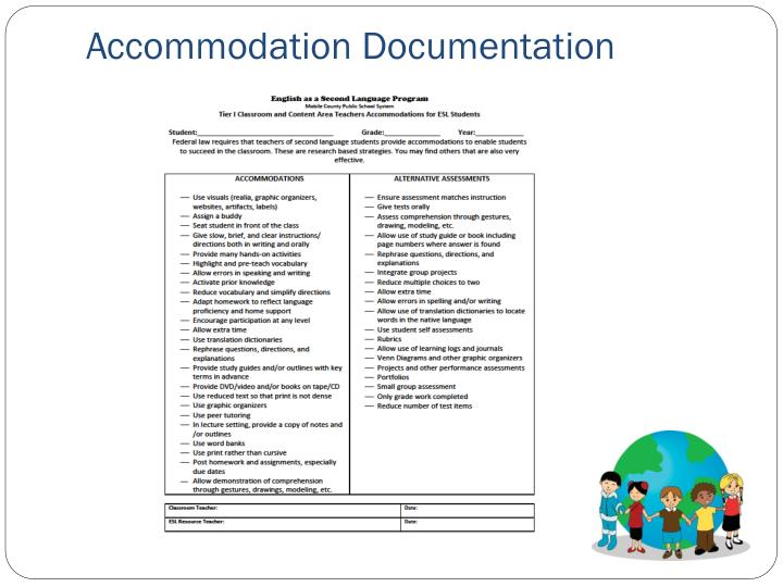 Accommodation Documentation
