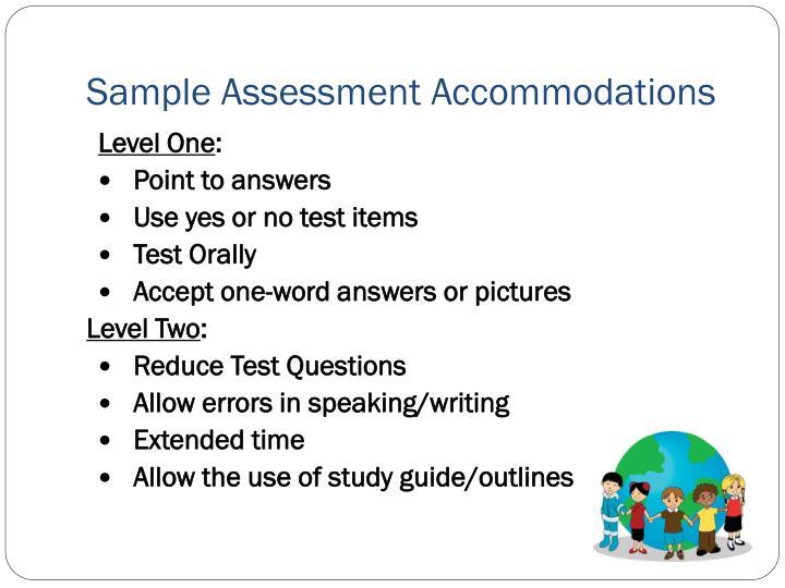 Sample Assessment Accommodations