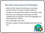 sample instructional strategies1