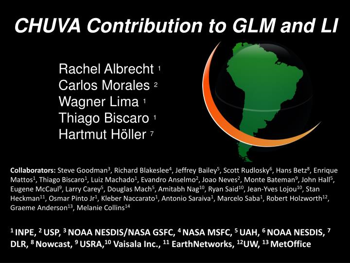 CHUVA Contribution to GLM and LI