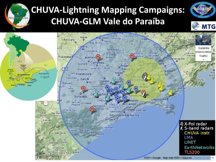 CHUVA-Lightning Mapping Campaigns: